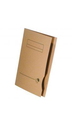 Chemise dossier pre-imprimee 2 rabats 24x32 nature line - Lot de 50