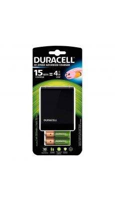 Duracell - CEF27 - Chargeur + 2 piles AA et 2 piles AAA (rechargeable)