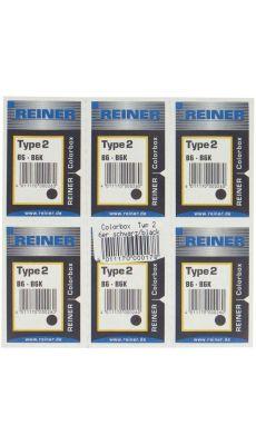 REINER  - Blister 6 cassettes ret2/b6k noir