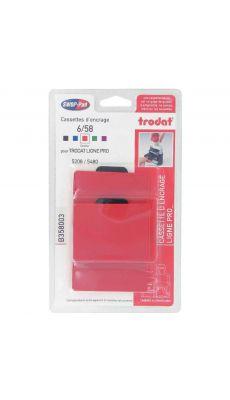 TRODAT - Blister 3 recharges 6/58 encre rouge