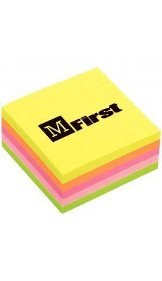 Mini bloc cube 250 feuilles 51x51mm couleur neon