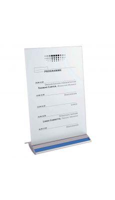 ALBA - SIGNA4T - Porte-affiche droit aluminium 2 faces A4