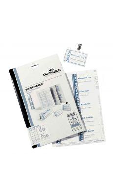Durable - 1455-02 - Etiquette pour badge 54x90 mm - Boite de 200