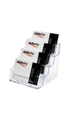 Deflecto - 70841 - Porte cartes de visite 4 cases transparents