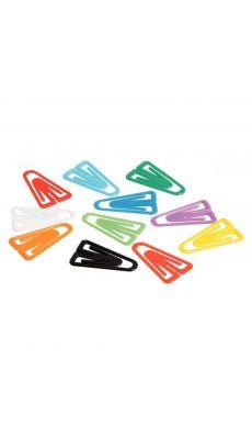 SIGN - Attache lettre 27mm plastique couleur assortie - boite de 100