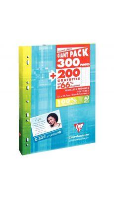 Clairefontaine - 11791C - Feuille simple A4 grand carreaux (Etui de 300 pages) + 200 pages gratuites