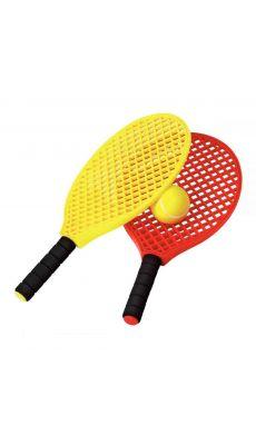 Raquette mini tennis (lot de 6) + 3 balles