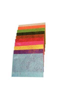 Feuilles de sisal 135g, format 29,7 x 42 cm, coloris assortis - Pochette de 10