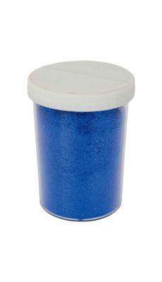 Saliere de 100g de poudre scintillante bleu