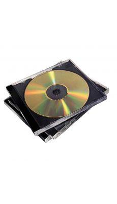 Fellowes - 98310 - Boitier vide fond noir pour 1 CD - Lot de 10