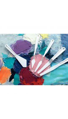 Couteaux a peindre en plastique - pot de 40