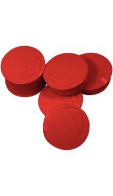 Punaise magnetique d22 coloris rouge - Blister de 6