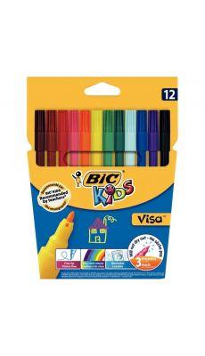Bic kids - 890614 - Feutre coloriage Visa pointe fine - Lot de 25 pochettes de 12
