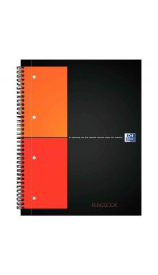 OXFORD OFFICE - 001501 - Cahier filingbook, a reliure integrale A4+ perforee 4 trous 5x5