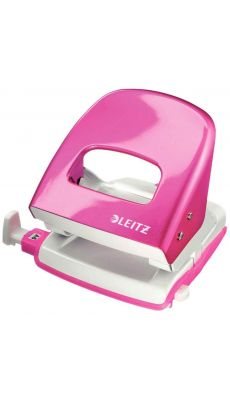LEITZ - 5008-10-23 - Perforateur 2 trous 30 feuilles Nexxt rose metal