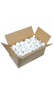 Boule styropor blanche - carton de 100
