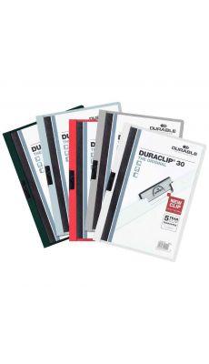 Durable - 2200-00 - Chemise de présentation assorti Duraclip A4 - Dos 3mm  - Carton de 25