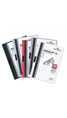 Durable - 2209-00 - Chemise de présentation assorti Duraclip A4 - Dos 6mm  - Carton de 25