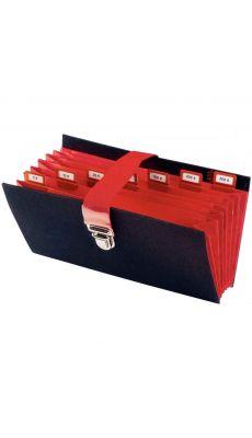 Extendos - 55-05 NOIR - Classeur de caisse 8 compartiments - Noir