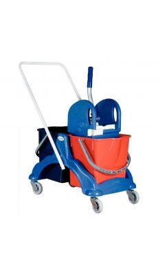 Chariot de lavage 2 x 15 litres + presse a machoire