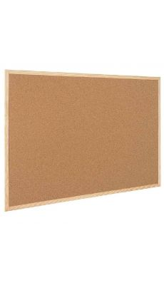 Bi-office - MC0070012010 - Tableau liège cadre bois 90x60cm