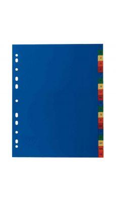 Intercalaires alphabétiques en polypropylène de couleur, format A4+ - Jeu de 20