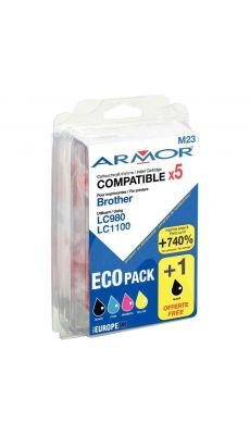 ARMOR - B10171R1 - Cartouche compatible Brother LC980/1100 - Pack de 5