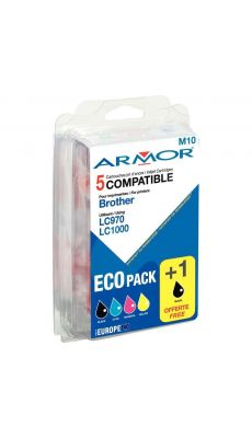 ARMOR - B10111R1 - Cartouche compatible Brother LC970/1000 - Pack de 5