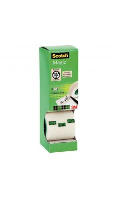 SCOTCH - Tour distributrice de 8 rouleaux Scotch magic 19x33m