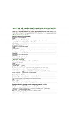 Exacompta - 45E - Contrat de location pour locaux non meublés pour dossier code 42522 - Paquet de 50
