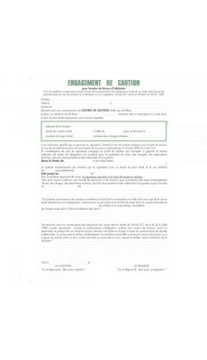 Exacompta - 52E - Engagement de caution (2 exemplaires) - Paquet de 50