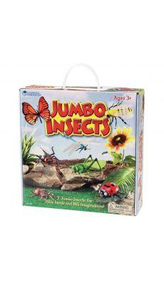 Insectes géants en plastique - Lot de 7