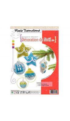 """Moule thermoformé, thème """" décoration de noël """""""