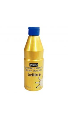 PEBEO - 374513 - Gouache brillante Brillo or - Flacon 500 ml
