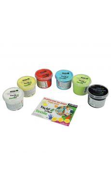 PEBEO - 634110 - Peinture aux doigts pour textile - Boite de 6 pots