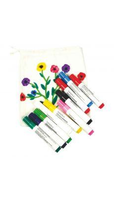 Feutre textile pointe ogive - Pochette de 10