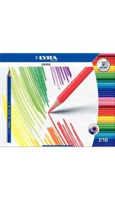 Crayons de couleur, triangulaires, coloris assortis - Schoolpack de 216