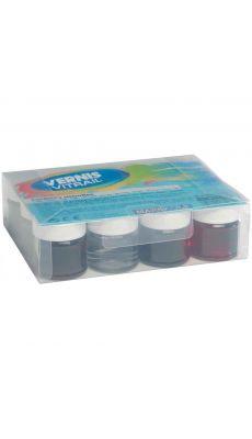 Coffret de 12 flacons 50 ml vernis vitrail à l'eau biodégradable