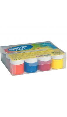 Coffret de 12 flacons 50 ml peinture tissu