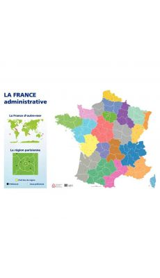 Carte de France administrative 120X80cm