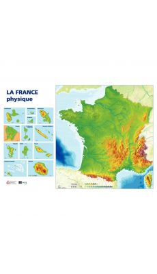Carte de France physique 120X80cm