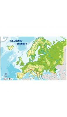 Carte d'Europe physique 120X80cm