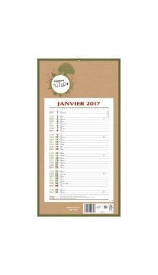 Calendrier mensuel 36x19 cm 12 feuilles agrafé millésimé