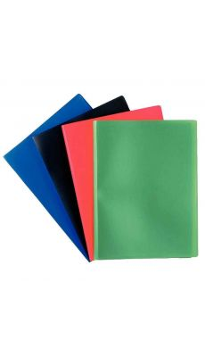 Protèges documents couverture souple en polypropylène 20 vues. Couleurs assorties - Carton de 25