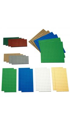 Petites plaques de construction LEGO - Lot de 22