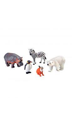 Jumbo animaux du zoo - Lot de 5