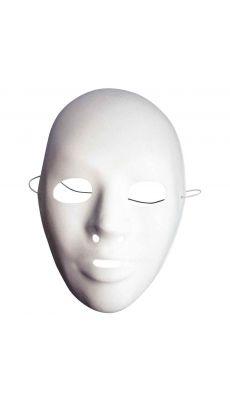 LA FOURMI - YPB021 - Masques vénitiens blancs à décorer pour adultes - lot de 12