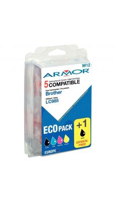 ARMOR - B10173R1 - Cartouche Compatible Brother LC985 - Pack de 5