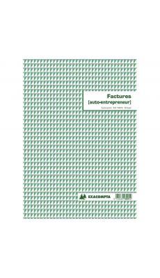Exacompta - 13291E - Manifold facture pour auto entrepreneur A4 - 50 feuillets dupl