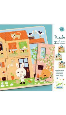 """Puzzle 3 niveaux """"Le cottage des lapins"""""""